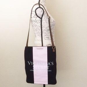 Victoria's Secret Striped Tote Crossbody Bag